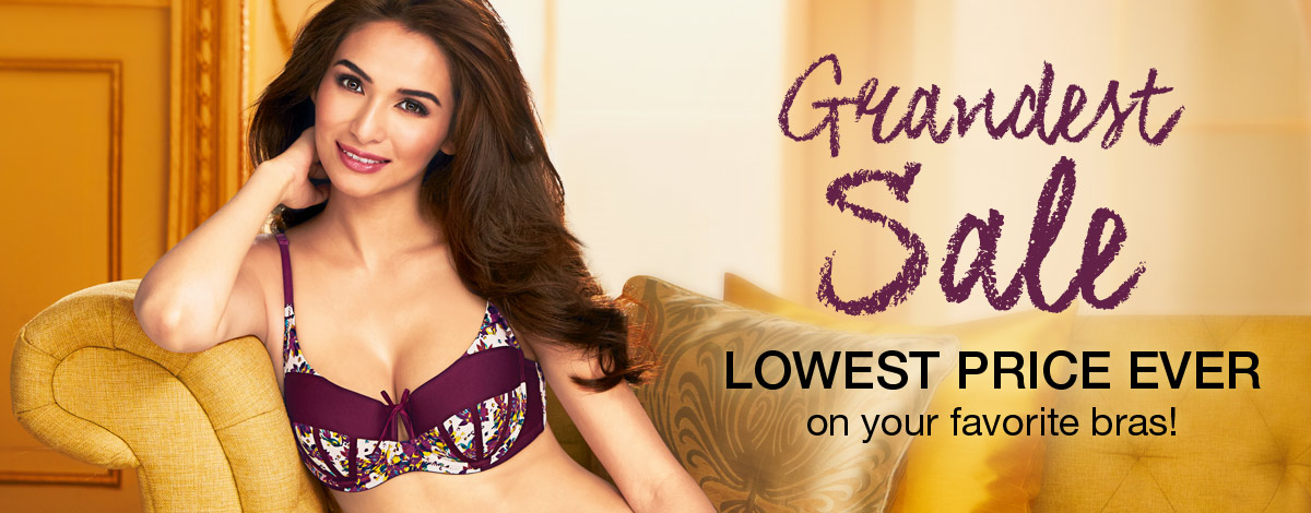 Lowest price ever on your favorite bras in our Intimate Apparel Grandest Sale
