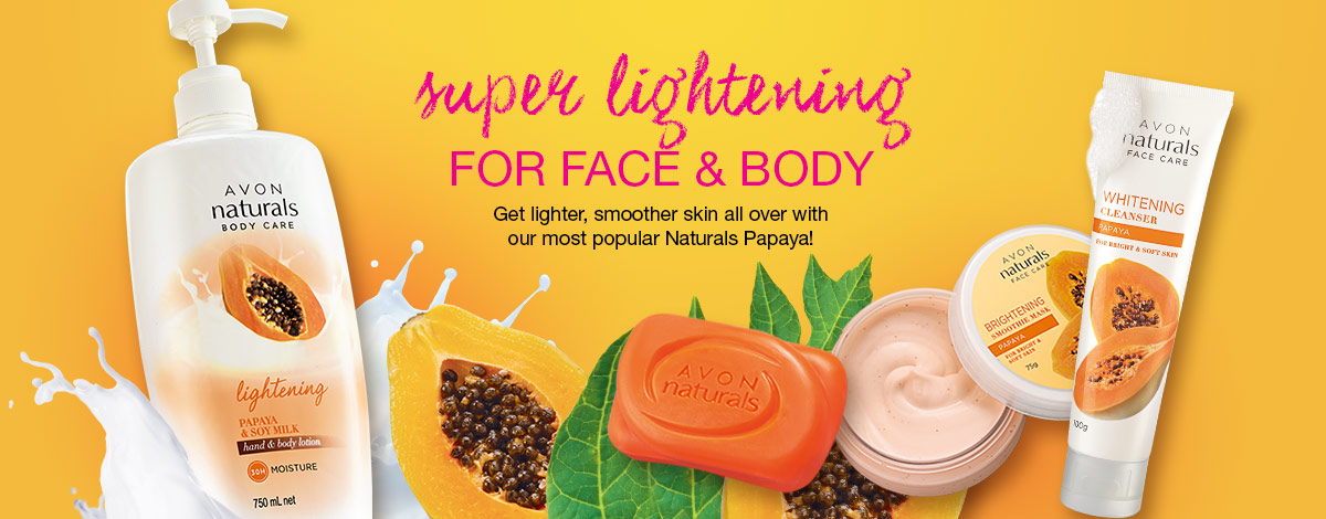 Get super lightening for face & body with Naturals Papaya