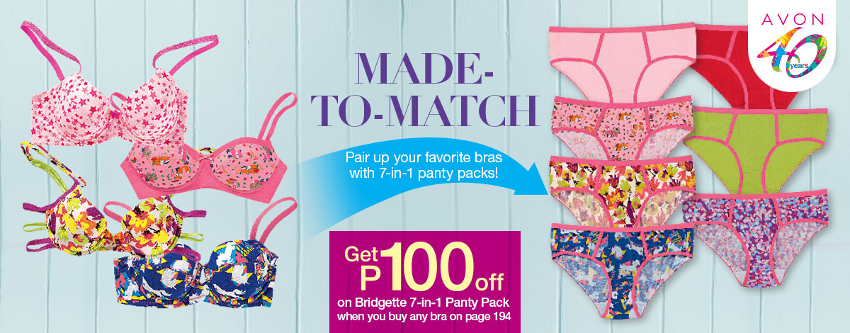 Pair up your favorite bras with 7-in-1 panty packs from Missy!