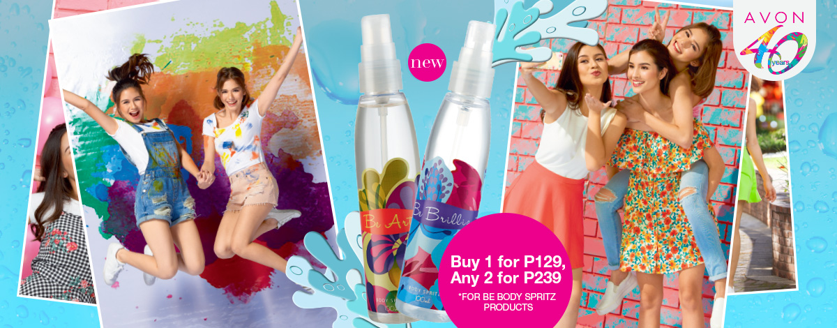 Buy 1 Be Body Spritz for P129, any 2 for P239!