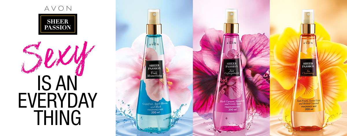 Sexy is an everyday thing with Sheer Passion Fragrance Mists!