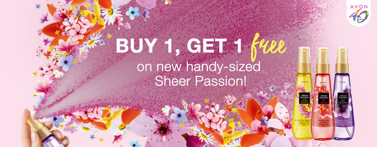 Buy 1, Get 1 Free on Sheer Passion Scents!