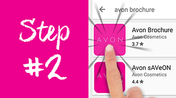 How to download the Avon Brochure App on Google Play - step 2