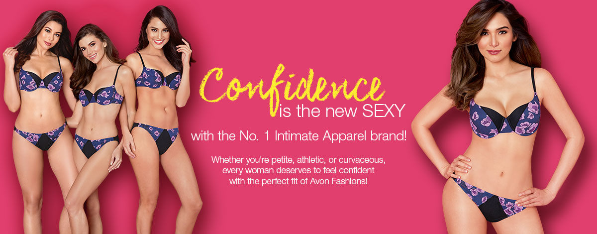 Confidence is the new sexy with Avon intimate apparel