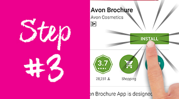 How to download the Avon Brochure App on Google Play - step 3