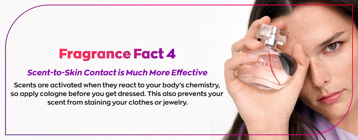 Fragrance Fact #4: Scent-to-skin contact is much more effective