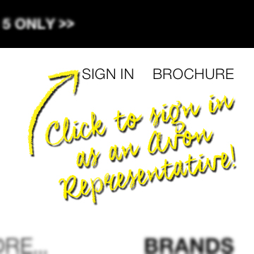 Click on the Sign in link on the header to login to your Avon Representative account