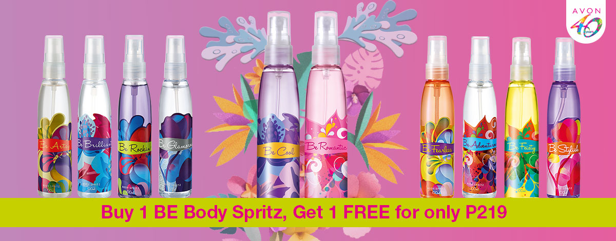 Live Fierce, Just Be. Buy 1 BE Spritz, Get 1 Free!
