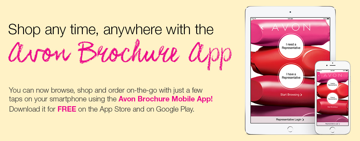 Download the Avon Brochure Mobile App for your Android or iOS device