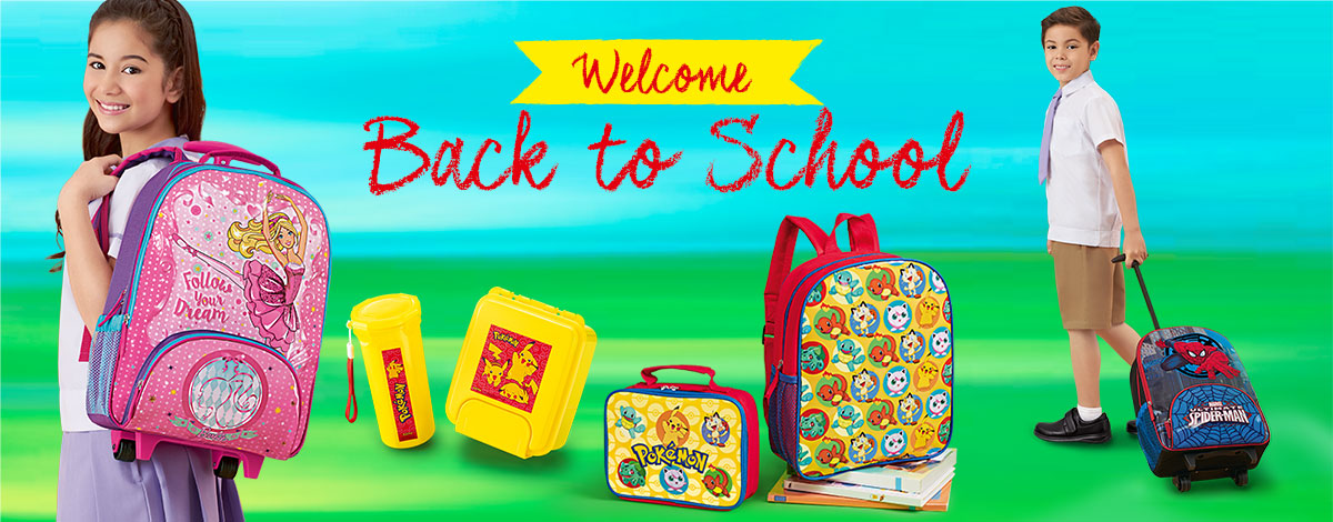 Welcome back to school with schoolbags in cool designs