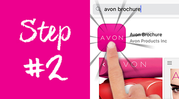 How to download the Avon Brochure App on the App Store - step 2