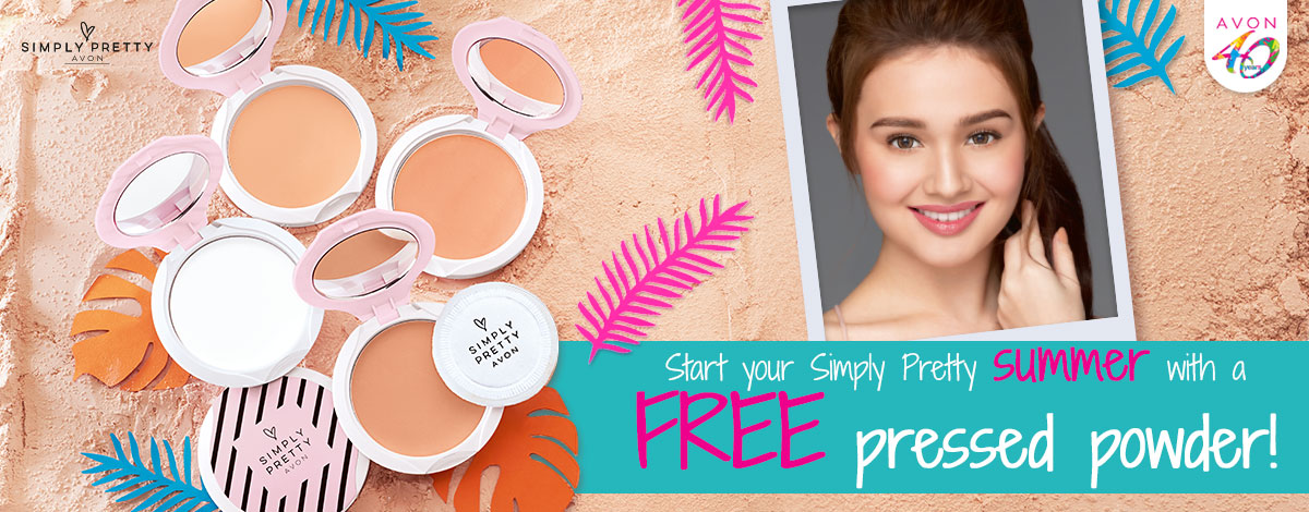 Start your Simply Pretty summer with a FREE pressed powder!