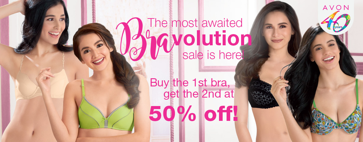 The most awaited Bra-volution Sale is here! But the 1st bra, get the 2nd at 50% off!