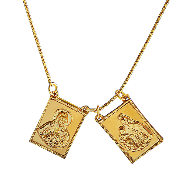 Gold Scapular Necklace: Product Detail : Divine Scapular Necklace