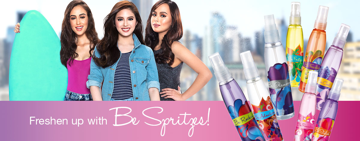 Freshen up with Be Body Spritzes